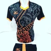 Baju Volly Jersey Futsal  Kaos Bola Setelan Olahraga Voli Mizuno