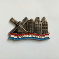 Magnet tempelan kulkas metal souvenir amsterdam 1 negara holland