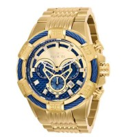 Jam Tangan Invicta Bolt 25542 Gold Blue Super Premium