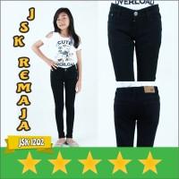 JSK 1202 - Jeans Remaja Celana Jeans Panjang Remaja Perempuan Hitam