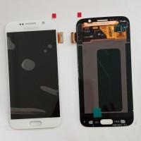 LCD SAMSUNG S6 FLAT WHITE / BLUE ORIGINAL