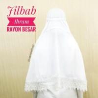 Best Jilbab Ihram Ihrom Putih Polos Rayon Besar Instan Perlengkapan