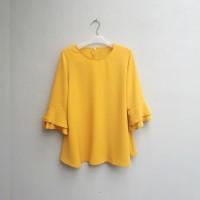 BAJU WANITA [NEW] Blouse Wanita Big Size 2L, 3L, 4L & 5L Warna Kuning