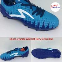 Sepatu Bola Specs Cyanide Wild Cat Navy Cirrus Blue Sepak Berkualitas