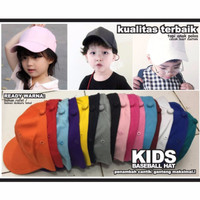 Topi bayi anak/Baseball hat Polos Basebal Polos Warna Warni bagus