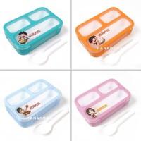 Yooyee Leakproof Lunchbox MINI 606 - Kotak Makan 3 sekat Anti Tumpah