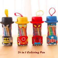 24 in 1 Coloring Pen (kemasan botol unik, isi 24 warna)