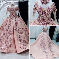 Gaun baju kebaya pengantin muslimah ekor jaguard non payet bunga 3D