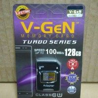 Micro SD 128GB V-gen Memory Card HP Vgen Microsd Turbo 128 GB Class 10