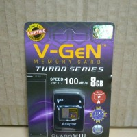 Micro SD 8GB V-gen Memory Card HP Vgen Microsd Turbo 8 GB Class 10