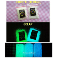 pasir crystal bubuk fosfor cat glow in the dark powder bahan terrarium