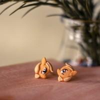 anting tusuk unicorn handmade clay import my little poni apple jack