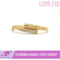 Gelang Lapis emas permata Perhiasan imitasi Gold Yaxiya Jewelry 446