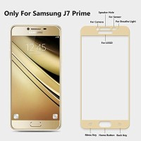 Tempered glass gold samsung galaxy j7 prime/Tempered glass full
