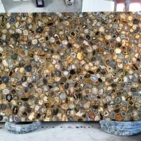 Rainbow Agate Semi Precious Stone Slab Marble Granite Marmer Batu Unik