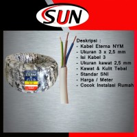 Kabel Eterna 3 x 2,5 mm Isi kabel 3 SNI Per Meter Original Asli