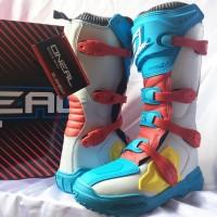 sepatu boots cross oneal element biru not alpinestar,gaerne,fox,thor