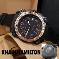 Khaki Hamilton 48mm Jam Tangan Pria Elegan Macho