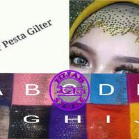 daleman inner hijab pesta glitter