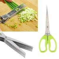 Gunting Pemotong Sayuran 5 Layer Green