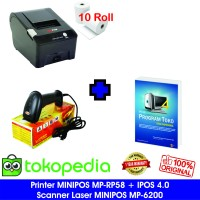 Paket Komputer Kasir Toko Murah 03 |Software|Printer|Scanner Laser