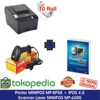 Paket Komputer Kasir Toko Murah 03 |Software|Printer|Scanner Laser