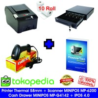 Paket Komputer Kasir Toko Murah 04 |Software|Printer|ScannerLaser|Laci