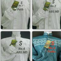 Baju Kemeja Atasan koko Muslim pria Cowok Lengan Panjang Atlas TAN25