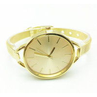 jam tangan fashion retro wanita warna emas gold women watch jwa025