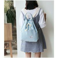 Backpack Canvas Serut Korean Style