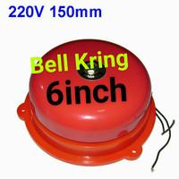 Round Bell Kring listrik 220v 150mm 6