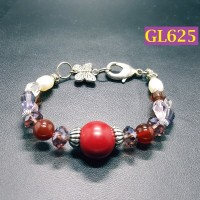 Gelang Bohemian Merah Maroon Motif Kupu kupu - GL625