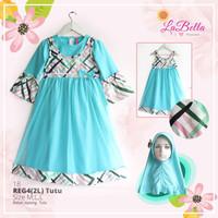 baju busana gamis muslim anak perempuan labella Reg4.18(3-6th)