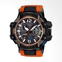 Casio G-Shock GPS Hybrid Wave Ceptor Jam Tangan Pria - Black Orange