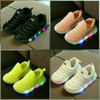 Sepatu Anak Sneakers | Slip On Lampu LED