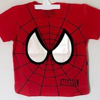 Kaos anak laki-laki spiderman face 1-6