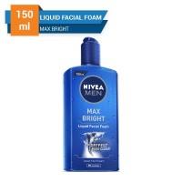 Harga nivea men max bright liquid facial foam 150 | Pembandingharga.com