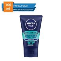 Harga nivea men acne control brigthening facial foam 100 | Pembandingharga.com