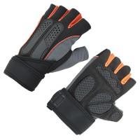 Harga termurah sarung tangan half finger sepeda fitnes size l | antitipu.com