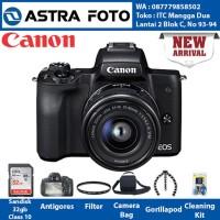 KAMERA MIRORRLESS - CANON EOS M50 KIT 15-45 32GB oke Terbagus