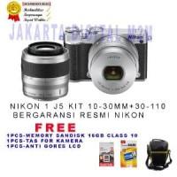 KAMERA NIKON - NIKON 1 J5 LENSA 10-30MM + 30-110MM oke  Premium