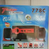 BARU Speaker Aktif Bluetooth GMC TECKYO 778C Super Woofer 2.1 SD Card
