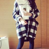 KEMEJA Kemeja Wanita Maskulin Style AlA korea Fashion Baju Import