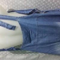 BAJU WANITA overall jeans denim rok panjang muslim wearpack dress