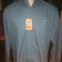 Kemeja Emba Casual shirt blue lengan panjang size XL