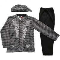 Baju Muslim Koko Anak Laki-Laki (1-3 Tahun) Setelan Set Peci LY10-2