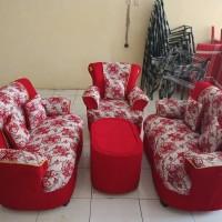 Paket Murah Set Sofa dan Meja Tamu + Bufet + Kursi dan Meja Makan