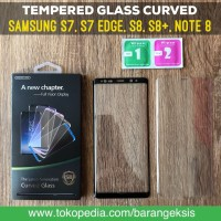 Tempered Glass Curved Full Cover Samsung S7, S7 EDGE, S8, S8+, NOTE 8