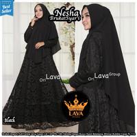 Baju Terusan Wanita Muslim Longdress Nesha Brokat Maxy