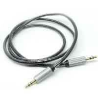 Metal AUX Cable Jack Kabel AUX Audio Konektor 3.5mm HiFi 1M Silver *